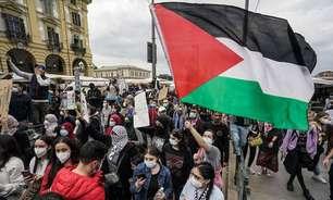 Milhares fazem ato pró-palestina na Itália e em outros países