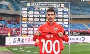 No centésimo jogo pelo Campeonato Chinês, Oscar marca duas vezes em vitória do Shanghai Port