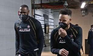 Antes de play-in, LeBron defende Curry como MVP da temporada