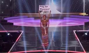 """Em concurso de Miss Universo, representante de Mianmar declara """"nosso povo está morrendo"""""""