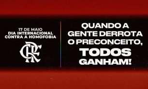 Flamengo se manifesta no Dia Internacional Contra a Homofobia: 'Pedimos mais amor e respeito'