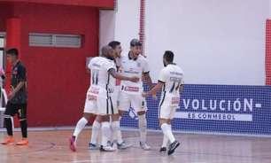 Corinthians goleia time boliviano e se classifica na Libertadores de Futsal
