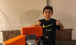 Atacante de 11 anos do São Paulo, Luan Caruso assina com a Nike