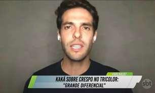 Kaká elogia Crespo e torce por título do São Paulo do Paulistão: 'Que tenha chegado a hora'