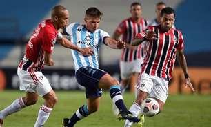 São Paulo recebe o Racing em duelo que vale a classificação para a próxima fase da Libertadores