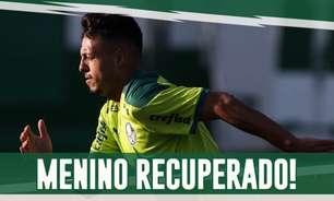Boletim: Gabriel Menino volta a treinar e Palmeiras finaliza preparação para Libertadores