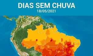 Ar seco aumenta o risco para queimadas no interior do Brasil