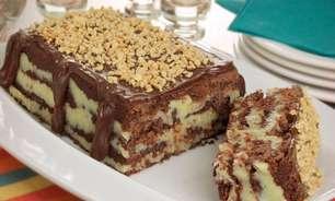 Torta-cookie com amendoim para adoçar o seu dia