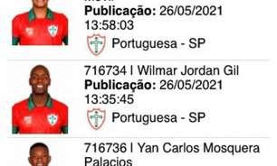 Atletas colombianos da Portuguesa estão regularizados no BID