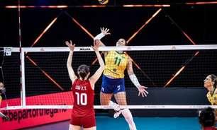 Em jogo acirrado, seleção feminina de vôlei perde para a China na Liga das Nações