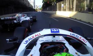 """Chefe da Haas diz que incidente entre Mazepin e Schumacher em Baku """"não foi tão perigoso"""""""