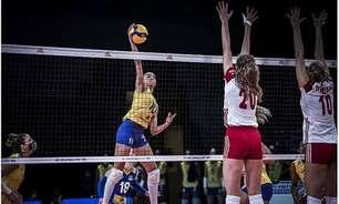 Brasil derrota a Polônia e soma a oitava vitória na Liga das Nações feminina