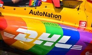 Hunter-Reay corre em Detroit com pintura de arco-íris no mês do orgulho LGBT
