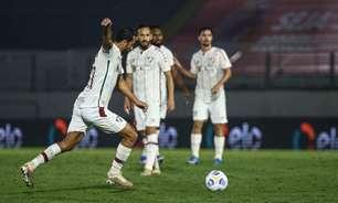 Nenê comemora quarto gol de falta pelo Fluminense e destaca: 'É muito treino, toda semana'