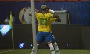 Rubro-negros vão ao delírio nas redes sociais com gol de Gabigol e comemoração 'copiada' por Neymar