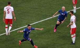 Com um a mais, Eslováquia vence a Polônia na estreia da Eurocopa; Lewandowski tem atuação apagada