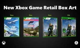 Jogos de Xbox terão novo design na caixa da versão em disco