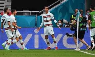 Cristiano Ronaldo marca duas vezes, quebra recordes e Portugal vence a Hungria na estreia da Eurocopa