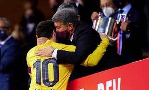 Presidente do Barcelona diz que confia em permanência de Messi: 'Acho que ele fica. Ele quer seguir'