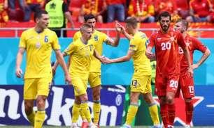 Ucrânia bate a Macedônia do Norte por 2 a 1 na Eurocopa
