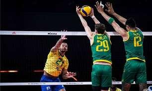 Seleção masculina de vôlei bate Austrália e continua na liderança da Liga das Nações