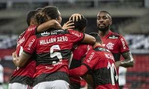 Flamengo atropela o Coritiba e avança às oitavas de final