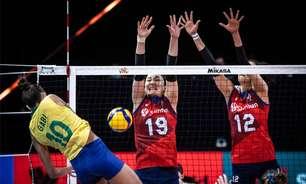 Seleção feminina de vôlei vence a Coreia do Sul pela Liga das Nações