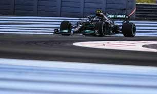 """Bottas confirma melhora da Mercedes, mas """"não dá para ficar feliz"""" atrás da Red Bull"""