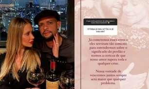Esposa de Felipe Melo responde pergunta sobre traição: 'Quem nunca errou?'
