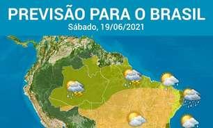 Atenção para muita chuva no Sul e no litoral do Nordeste