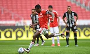 Inter abre vantagem, mas Ceará arranca empate no Beira-Rio