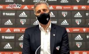 """VÍDEO: Crespo reconhece queda de rendimento do São Paulo, mas indica solução: """"Calma, tempo e paciência"""""""