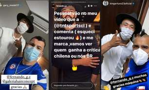 Brasileiro que 'furou' bolha da seleção chilena tira onda com críticas: 'Fale mal ou bem, o pai estourou'