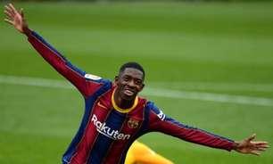 Barcelona avança por renovação de contrato com Dembélé