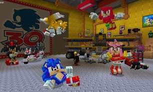 Sonic chega a Minecraft através de conteúdo para download