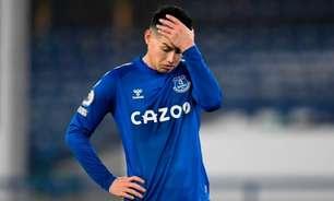 James Rodríguez é oferecido a outros clubes e pode deixar o Everton