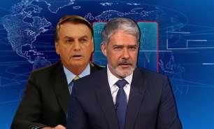 """""""Me bota no 'JN'"""", provocou Bolsonaro; Bonner disse """"não"""""""