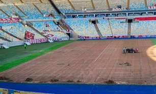 Gramado do Maracanã é trocado para a final da Copa América
