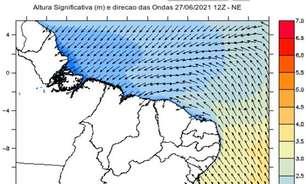 Mar agitado no Nordeste nos próximos dias