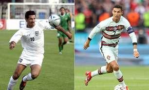 Ali Daei parabeniza Cristiano Ronaldo por recorde de gols, e craque responde: 'Um grande ídolo'