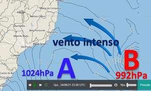 Mar fica muito agitado no Sul e Sudeste nos próximos dias