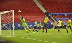 Após empate sem gols, Colômbia bate o Uruguai nos pênaltis