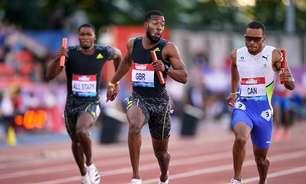 Brasil termina em 4º no revezamento 4x100m na Grã-Bretanha