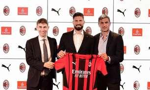 Giroud é apresentado como novo reforço do Milan na temporada