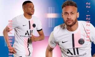 Com Neymar e Mbappé, Paris Saint-Germain divulga novo uniforme