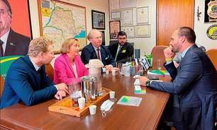 Deputada da ultradireita alemã se reúne com Kicis e Eduardo