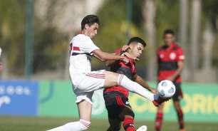 Em jogo agitado, São Paulo e Flamengo empatam em Cotia na ida da semifinal do Brasileiro sub-17