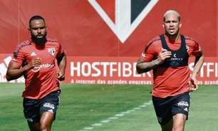 Luciano e William treinam com o elenco do São Paulo e se aproximam de retorno aos gramados