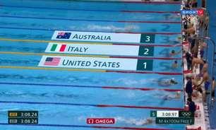 Estados Unidos levam o ouro no revezamento 4x100m masculino; Brasil fica em oitavo