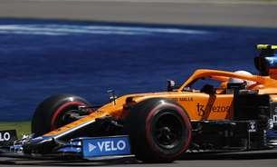 """McLaren vê superioridade de Bottas e Pérez e diz que 3ª posição de Norris """"não é realista"""""""